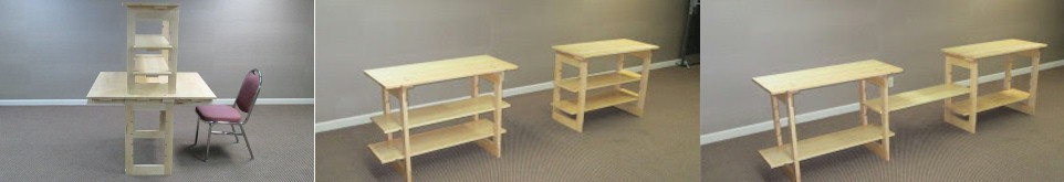 Desk with Carrel   –   Two Bookcases    –    Entertainment System
